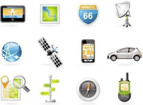 digital navigation equipment vector