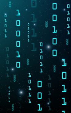 digital technology background digits decor repeating blue design