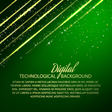 digital technology creative background vector set