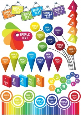 infographic elements colorful modern 3d flat shapes