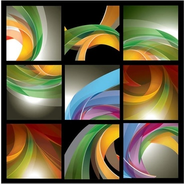 decorative background templates colorful dynamic 3d swirled decor