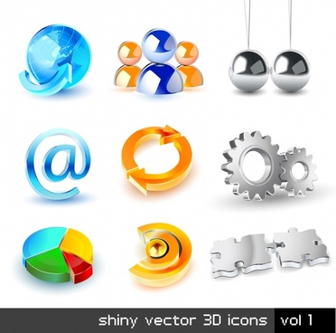 dimensional logo icon vector
