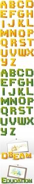 education background templates capital letter alphabets decor