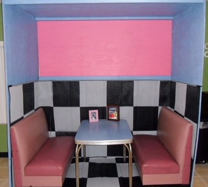 diner booth pink