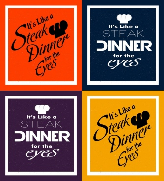 dinner banner sets various colored design calligraphic decor