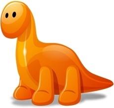 Dino orange