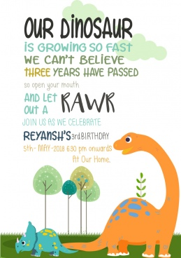 dinosaur birthday invite