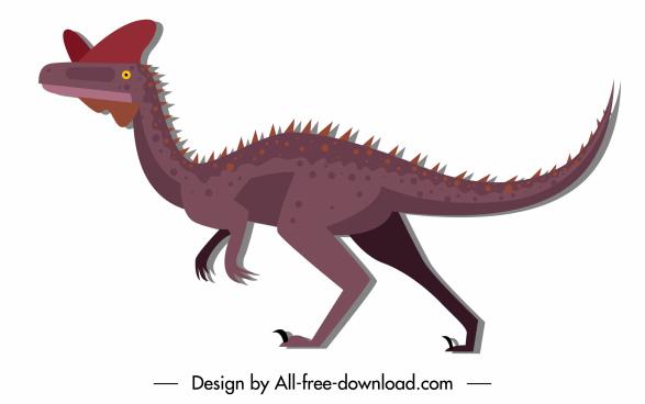 dinosaur creature icon classic design cartoon character sketch