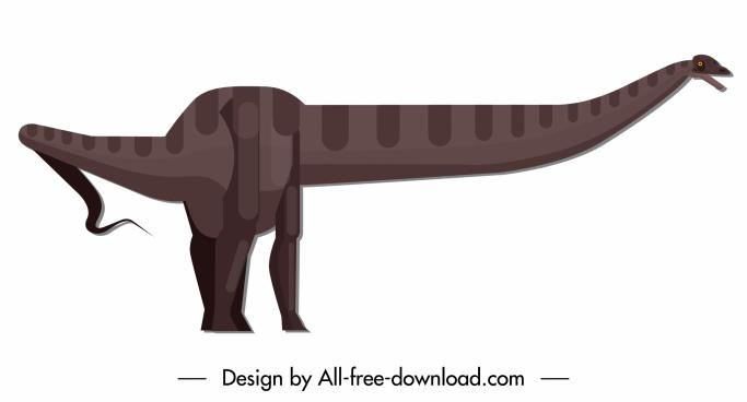 dinosaur icon apatosaurus species sketch classic cartoon design
