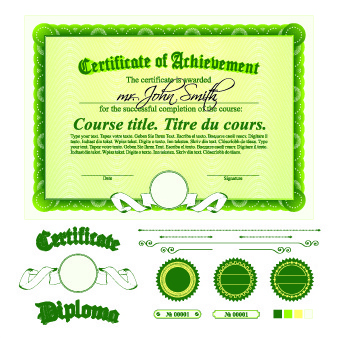 Diploma certificate template free vector download 13685 free diploma certificate template and ornaments vector yelopaper Image collections