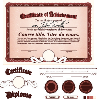 diploma certificate template free vector download 14 225 free