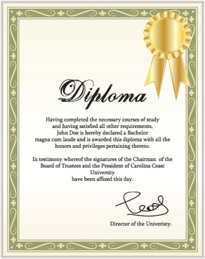 diplomas and certificates design vector template