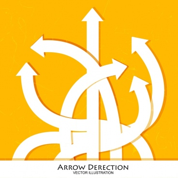 direction background curved arrows decoration