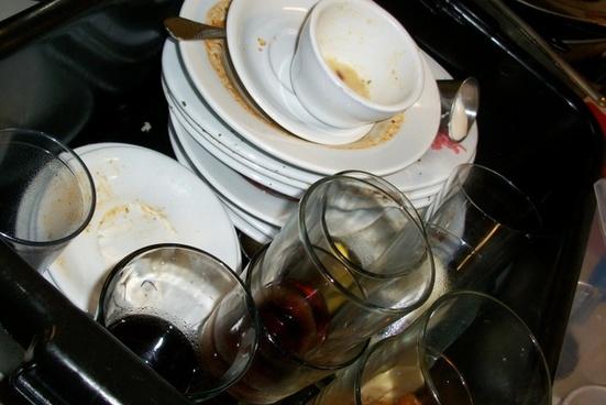 dirty dishes dishwasher