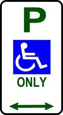 Disabled Parking Sign clip art