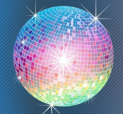 entertainment background disco ball icon sparkling design