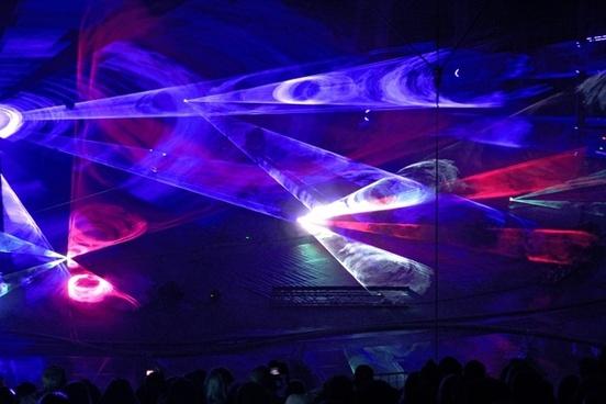 disco nights laser light show
