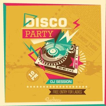 disco party retro poster