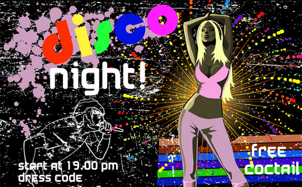 70s disco poster free vector download (5,785 Free vector) for