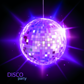 disco rainbow vector background