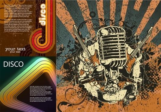 disco theme vector