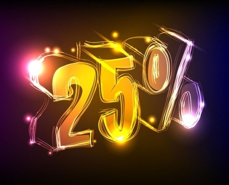 discount gorgeous neon background 02 vector