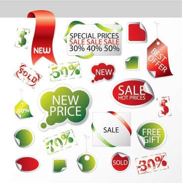 discount sale of decorative and practical icon vector elements