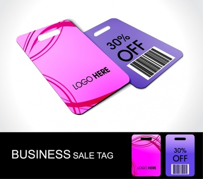 business tag templates modern colored plain sketch