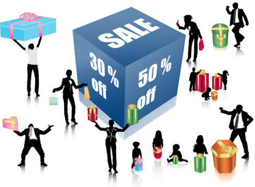 discount sales and figures vector