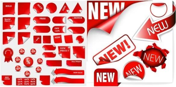 discount sales decorative icon vector