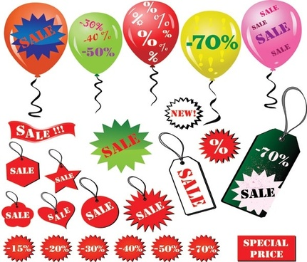 discount sales element vector