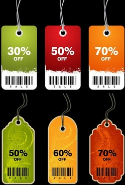 discount sales tag vector