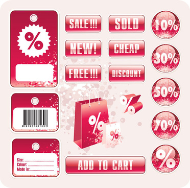 discount tag design elements