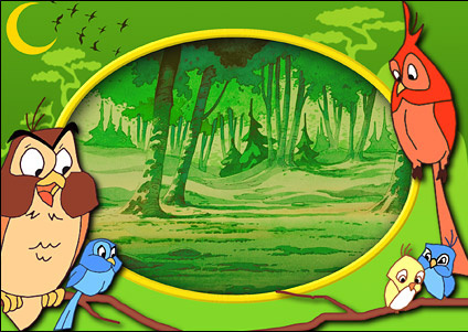 Disney cartoon frames psd material-10