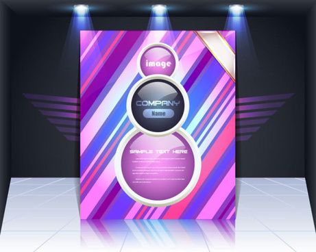 display board cover background vector