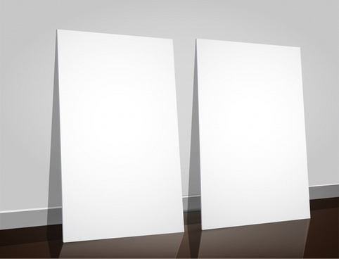 gallery display board templates shiny bright modern 3d