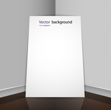 display boards wall background plate vector