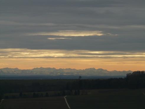 distant view mountains alpine