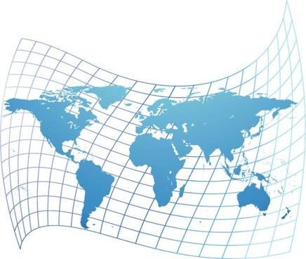 distorted world map vector