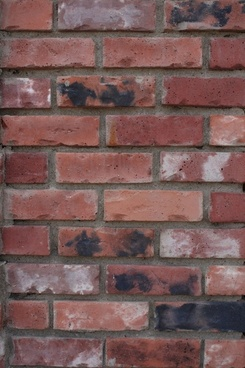 distressed red brick wall