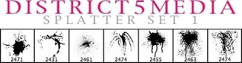 DISTRICT5MEDIA SPLATTER SET 1