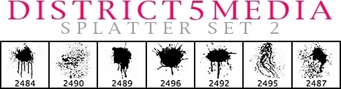 DISTRICT5MEDIA SPLATTER SET 2
