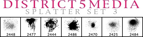 DISTRICT5MEDIA SPLATTER SET 3