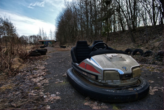 disused bumper car
