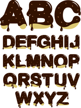 diverse alphabet elements vector art