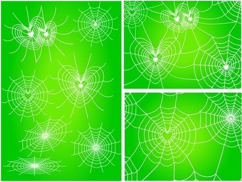 diverse spider web love vector network