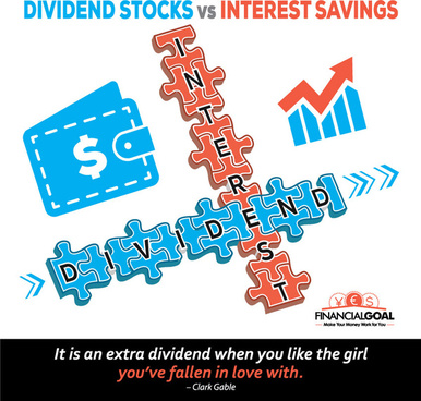 dividend stocks vs interest savings