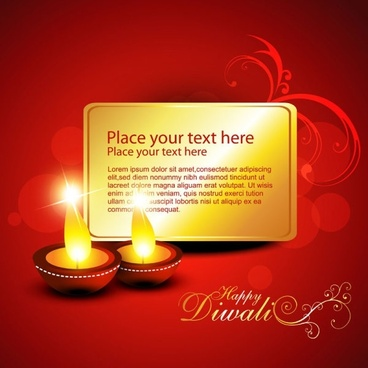 diwali beautiful background 02 vector