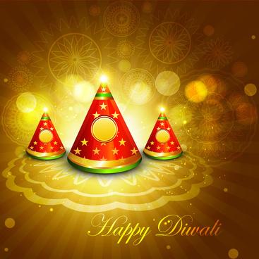 diwali crackers bright colorful vector