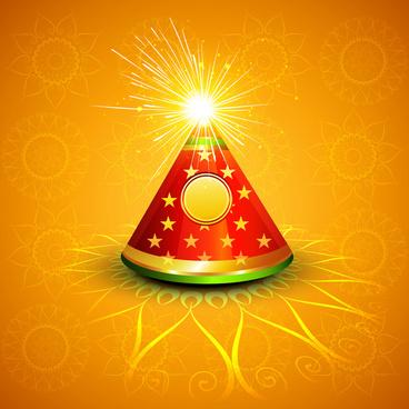 diwali crackers hindu festival bright colorful vector design